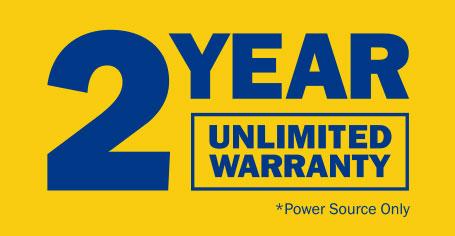 2 year unlimited warranty