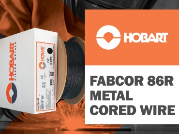 Hobart's FabCOR 86R Metal Cored Wire