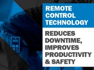 Remote Control Technology - Reduces Downtime, Improves Productivity & Safety