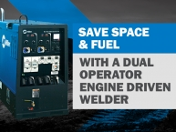 Save Space and Fuel with a Dual Operator Engine Driven Welder/Generator!